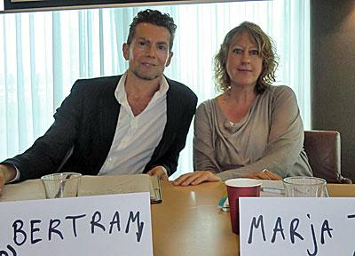 ScriptAcademy - Hoofddocenten Paul Bertram en Marja Tutert (Foto Carlijn Strodijk)