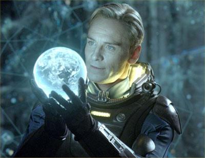 Michael Fassbender als androïde David