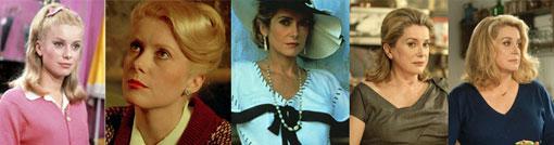 Catherine Deneuve in vijf hoofdrollen