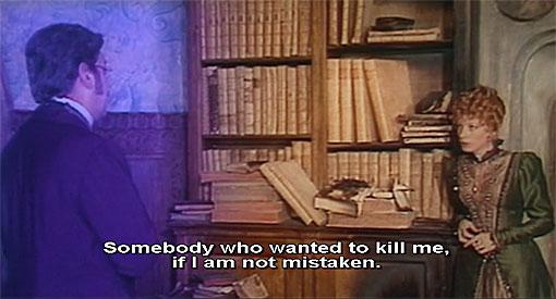 In Il mistero di Oberwald (1980) krijgt de intrigant een paars kleurtje.