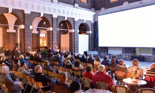 Een van de locaties van het filmfestival in Schiedam.