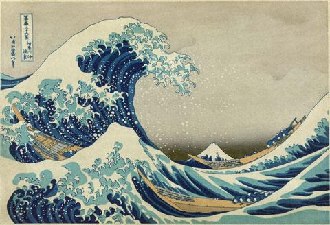 De grote Golf van Kanagawa (Katsushika Hokusai)