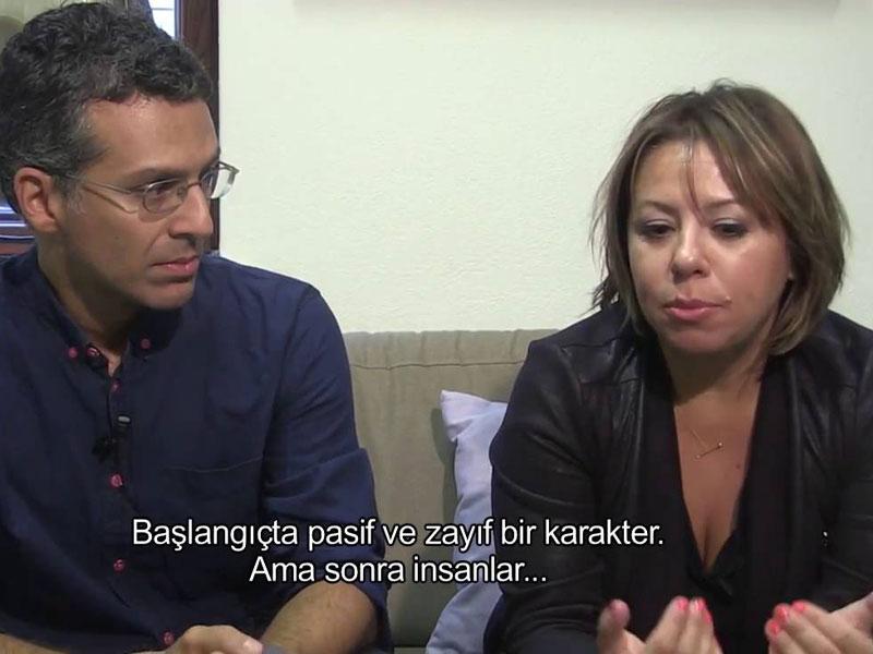 Regisseur Aslı Özge (rechts) en cinematograaf Emre Erkmen