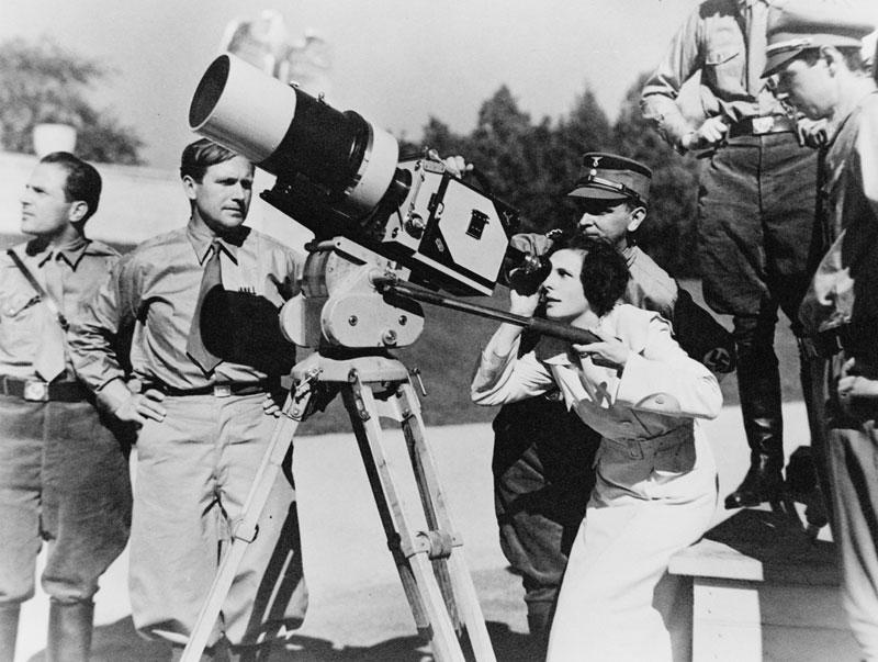 Leni Riefenstahl bij de opnames van Triumph des Willens (1935)