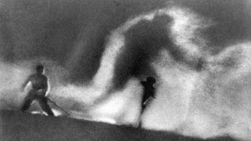 Still uit Der weisse Rausch (1931) van Arnold Fanck