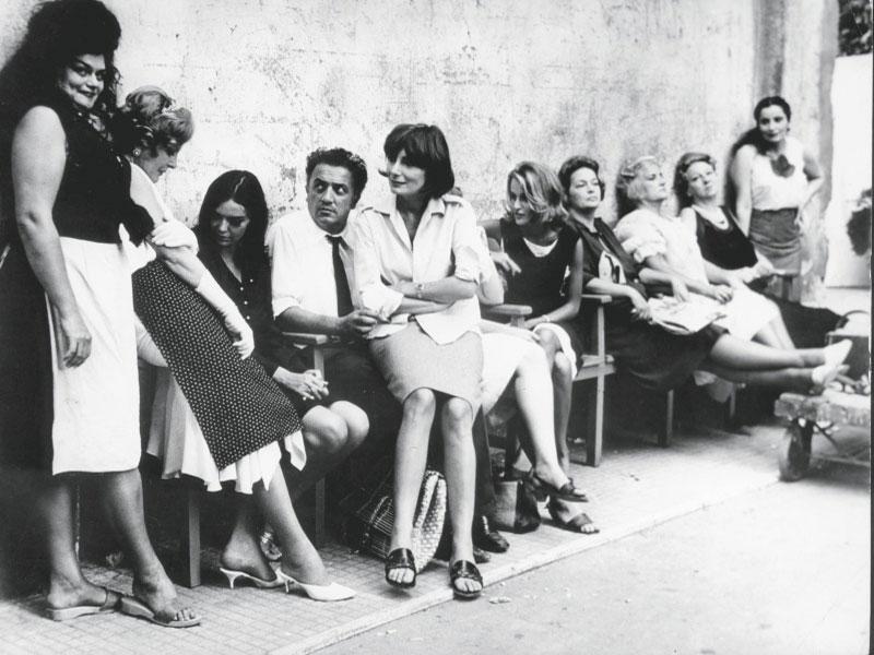 Federico Fellini op de set van 8 1/2