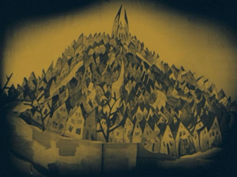 Das Cabinet des Dr. Caligari: Holstenwall, het stadje waar Francis naar eigen zeggen geboren is en waar het verhaal dat hij vertelt zich afspeelt.