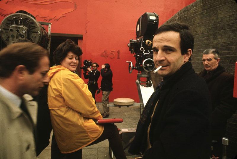 François Truffaut (rechts) op de set of Fahrenheit 451 (1966)